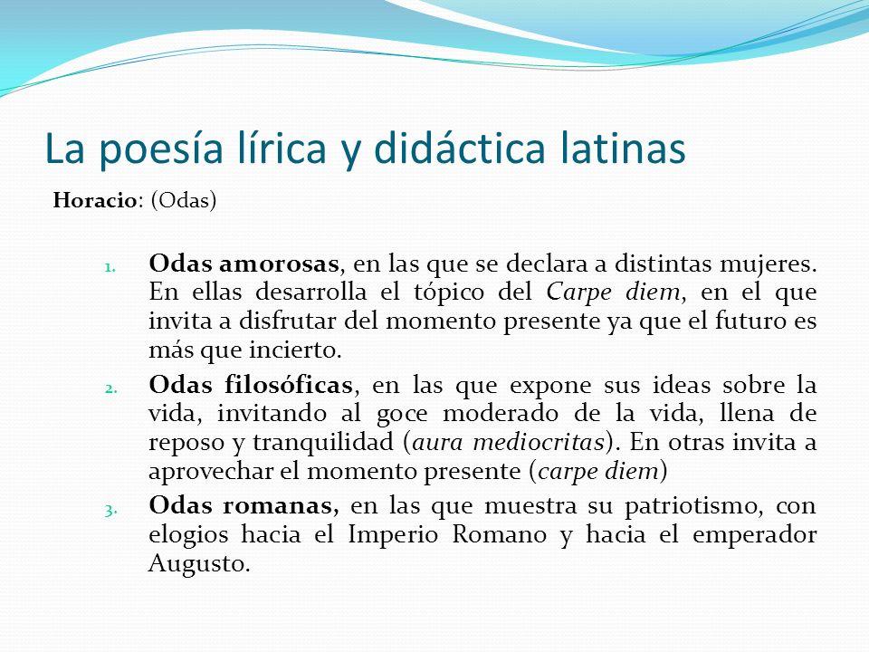 La poesía lírica y didáctica latinas