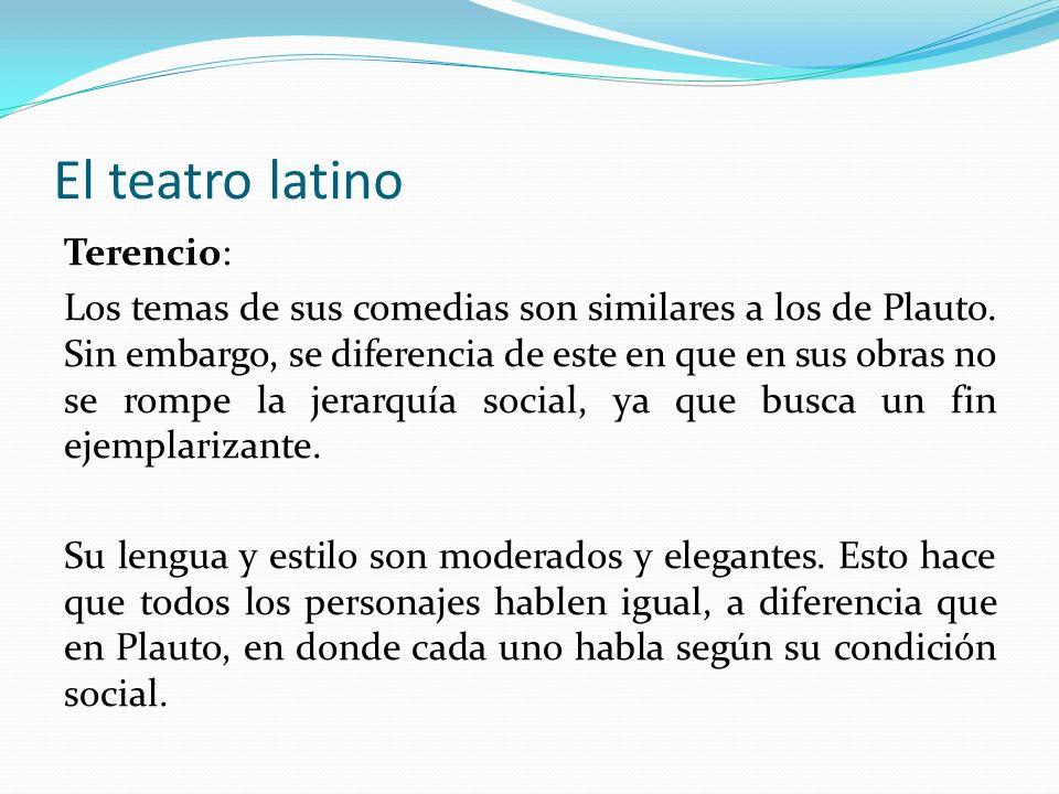 El teatro latino Terencio: