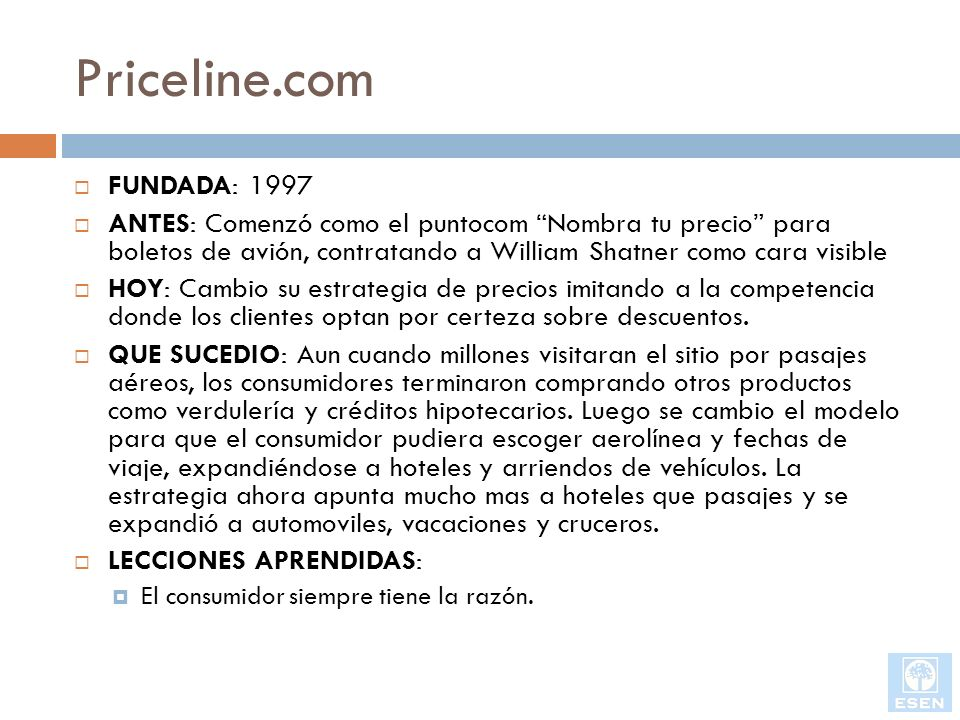 Priceline.com FUNDADA: 1997