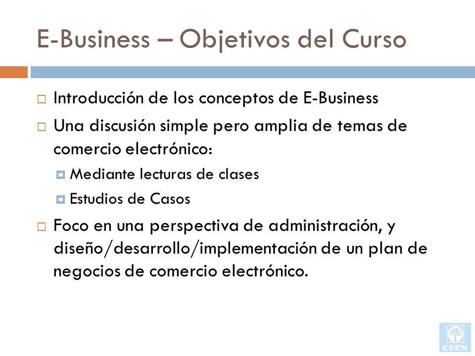 E-Business – Objetivos del Curso