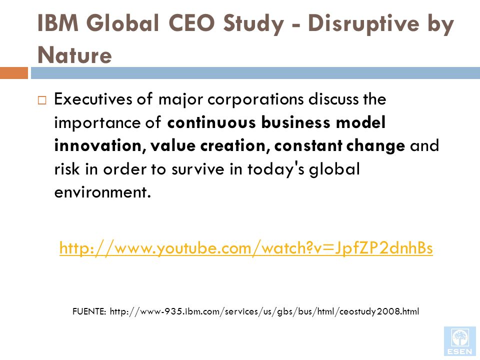 IBM Global CEO Study - Disruptive by Nature
