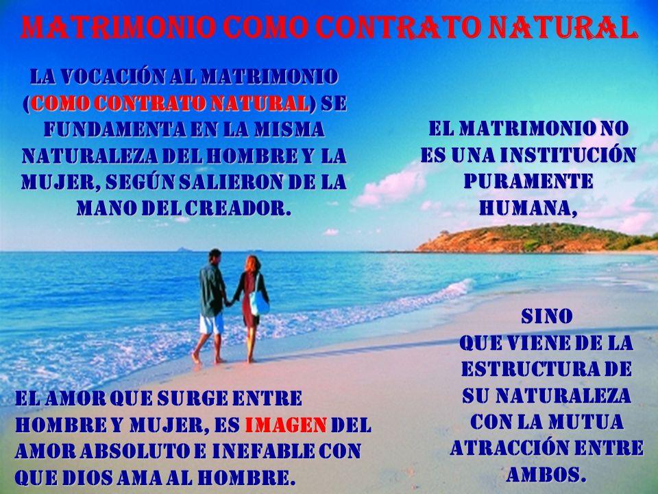 Matrimonio como contrato natural