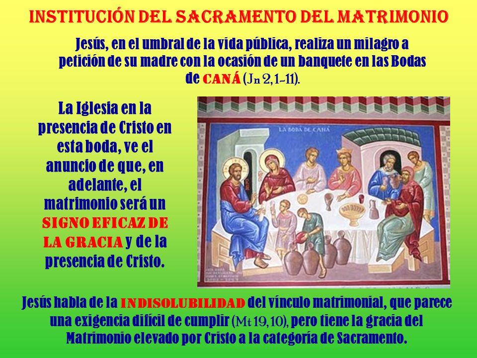 INSTITUCIÓN DEL SACRAMENTO DEL Matrimonio