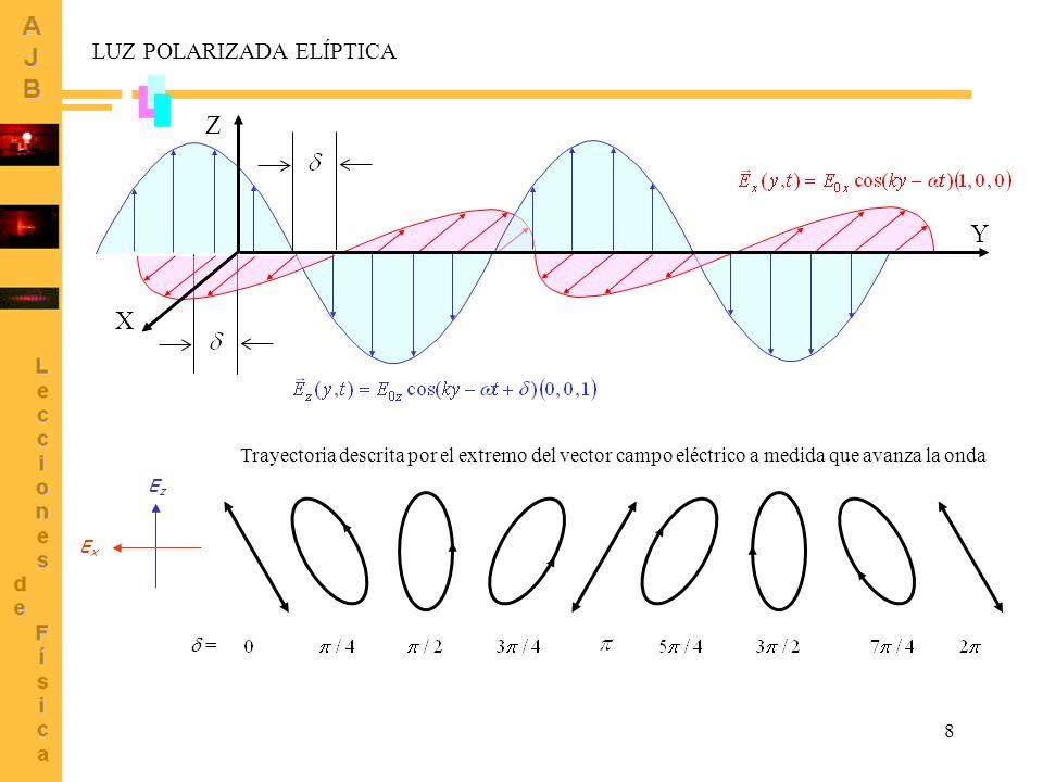 Z Y X LUZ POLARIZADA ELÍPTICA