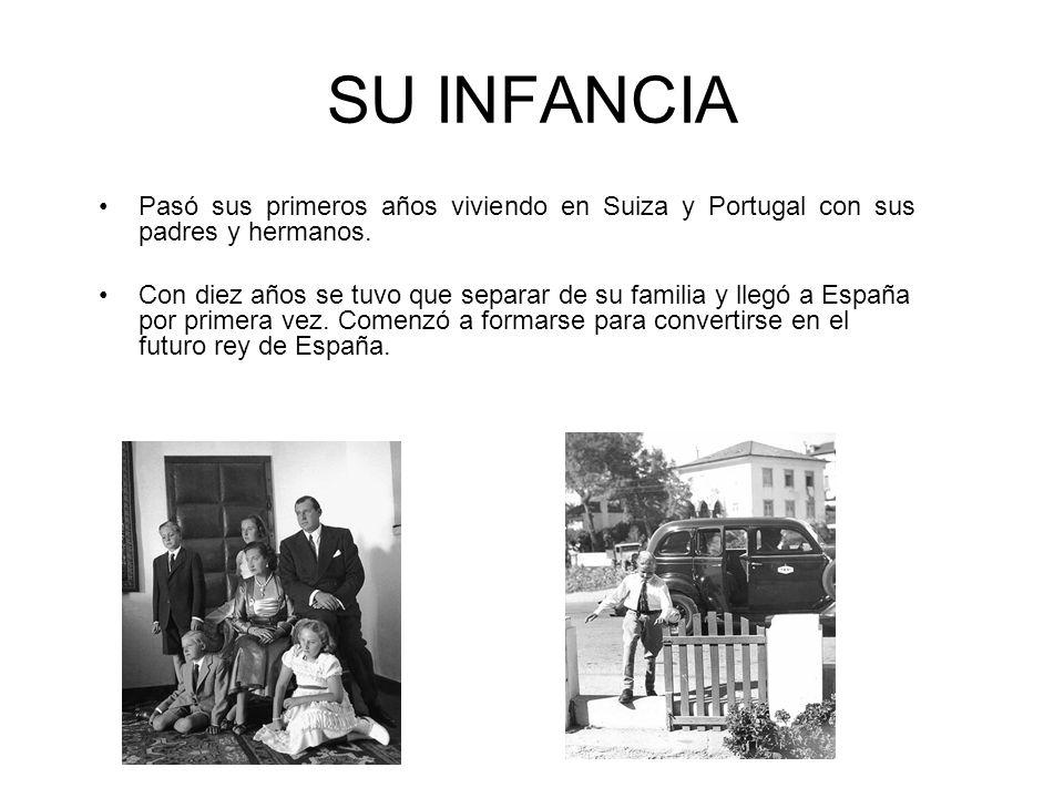 SU INFANCIA Pasó sus primeros años viviendo en Suiza y Portugal con sus padres y hermanos.