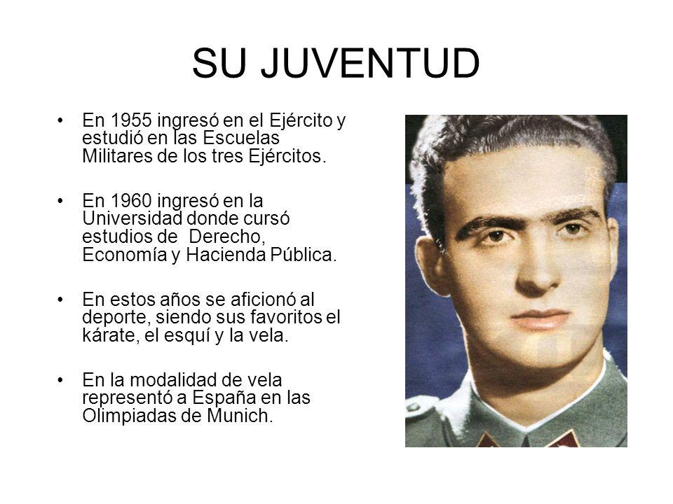 SU JUVENTUD En 1955 ingresó en el Ejército y estudió en las Escuelas Militares de los tres Ejércitos.