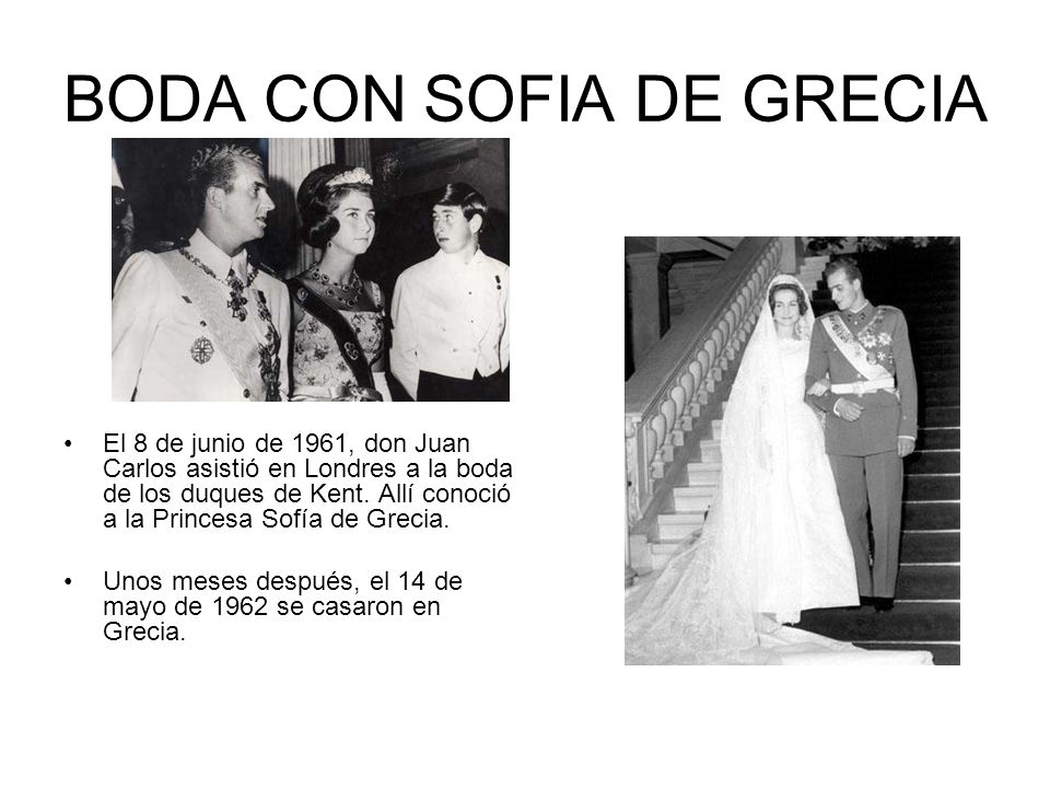 BODA CON SOFIA DE GRECIA