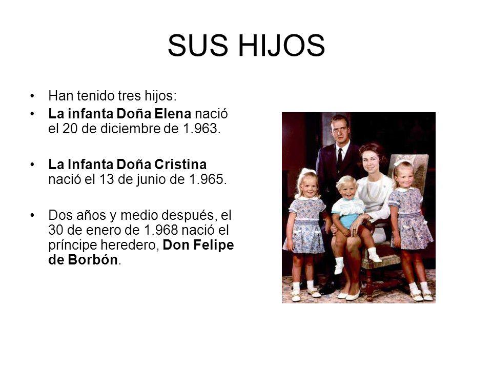 SUS HIJOS Han tenido tres hijos: