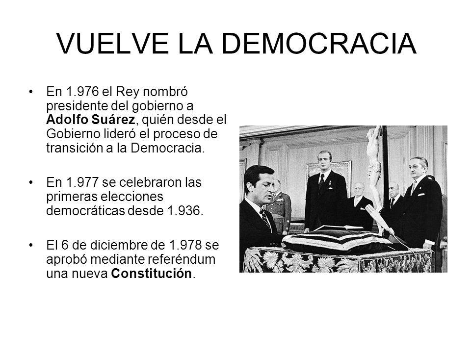 VUELVE LA DEMOCRACIA