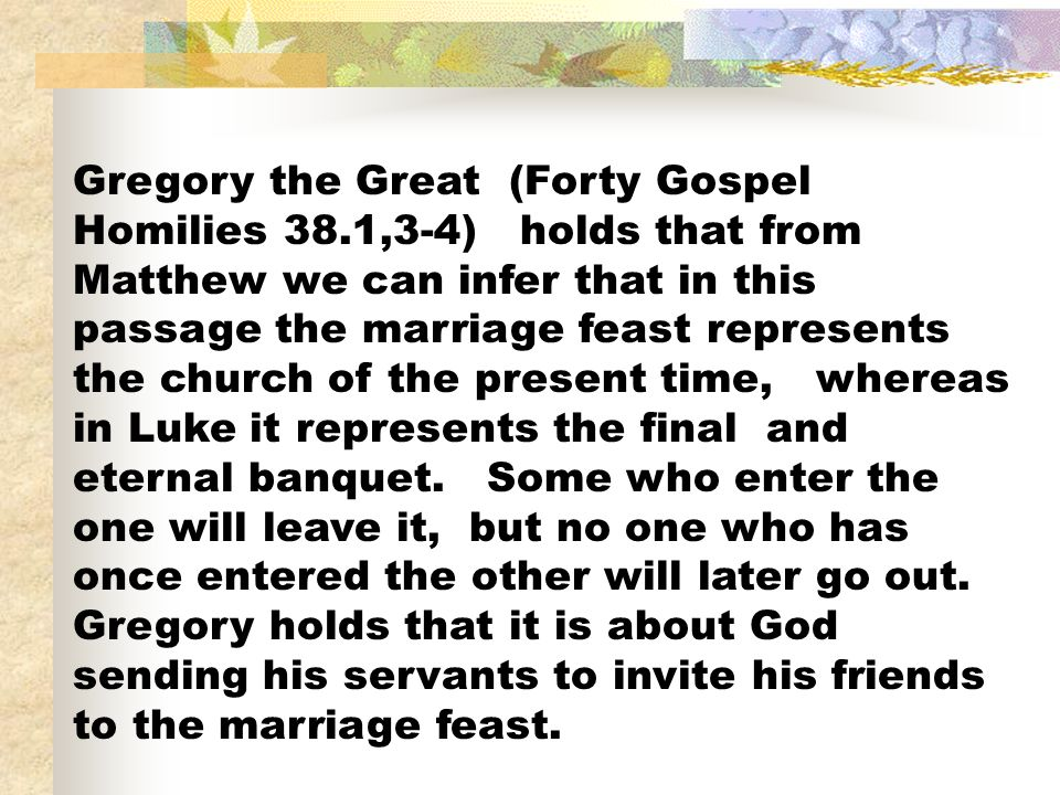 Gregory the Great (Forty Gospel Homilies 38