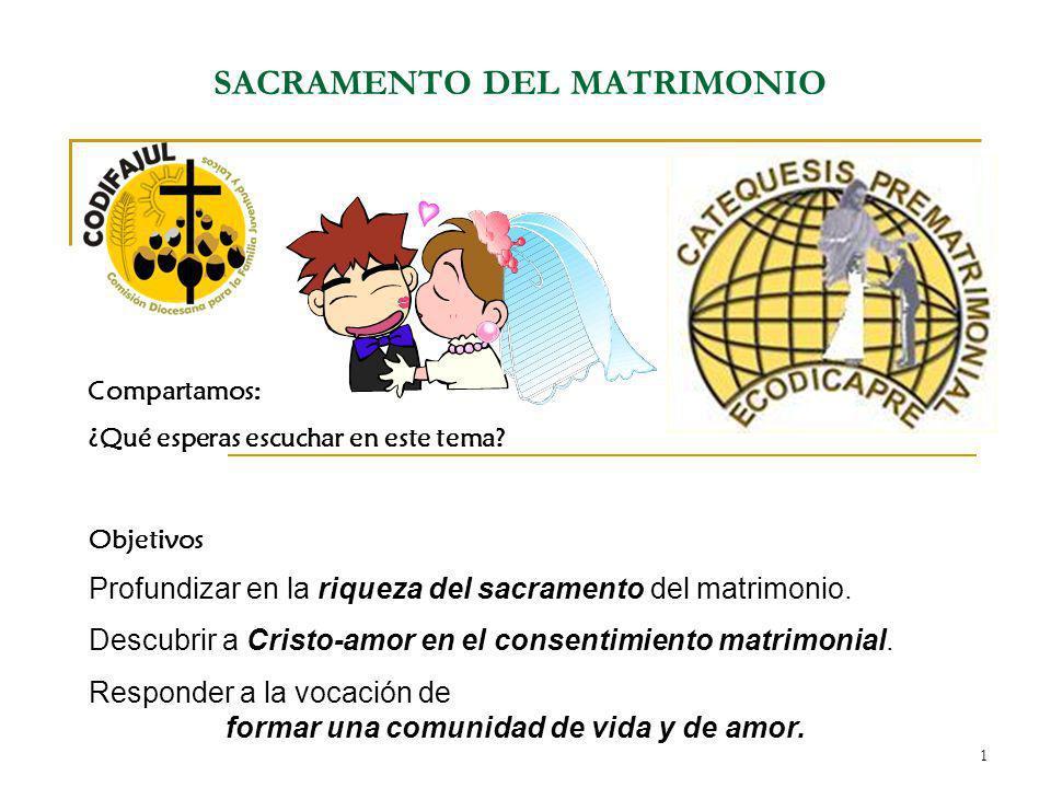 SACRAMENTO DEL MATRIMONIO
