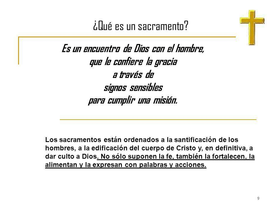 ¿Qué es un sacramento Es un encuentro de Dios con el hombre,