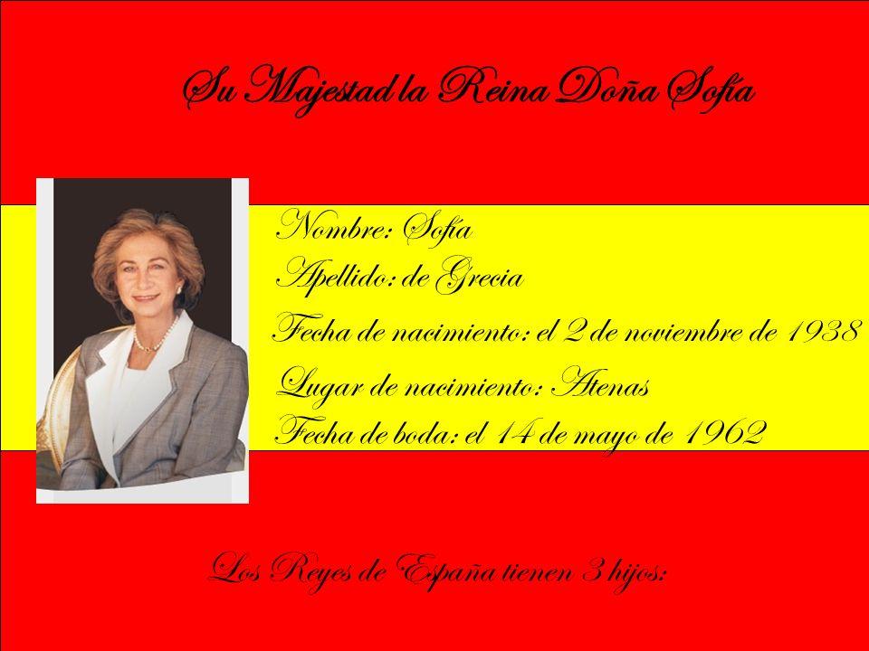 Su Majestad la Reina Doña Sofía