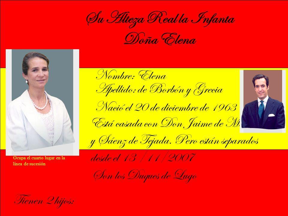 Su Alteza Real la Infanta Doña Elena