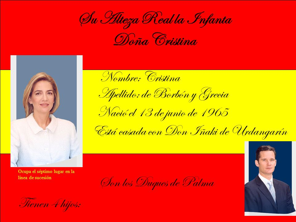 Su Alteza Real la Infanta Doña Cristina
