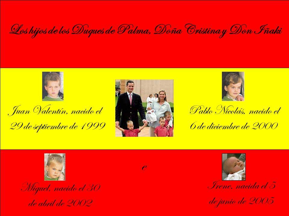 Los hijos de los Duques de Palma, Doña Cristina y Don Iñaki
