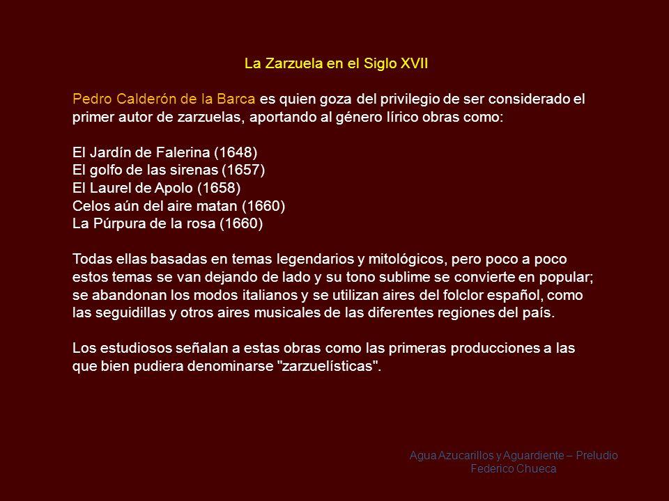 La Zarzuela en el Siglo XVII