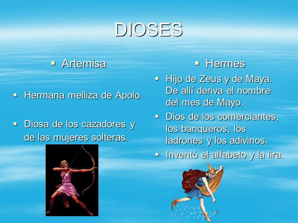 DIOSES Artemisa Hermes