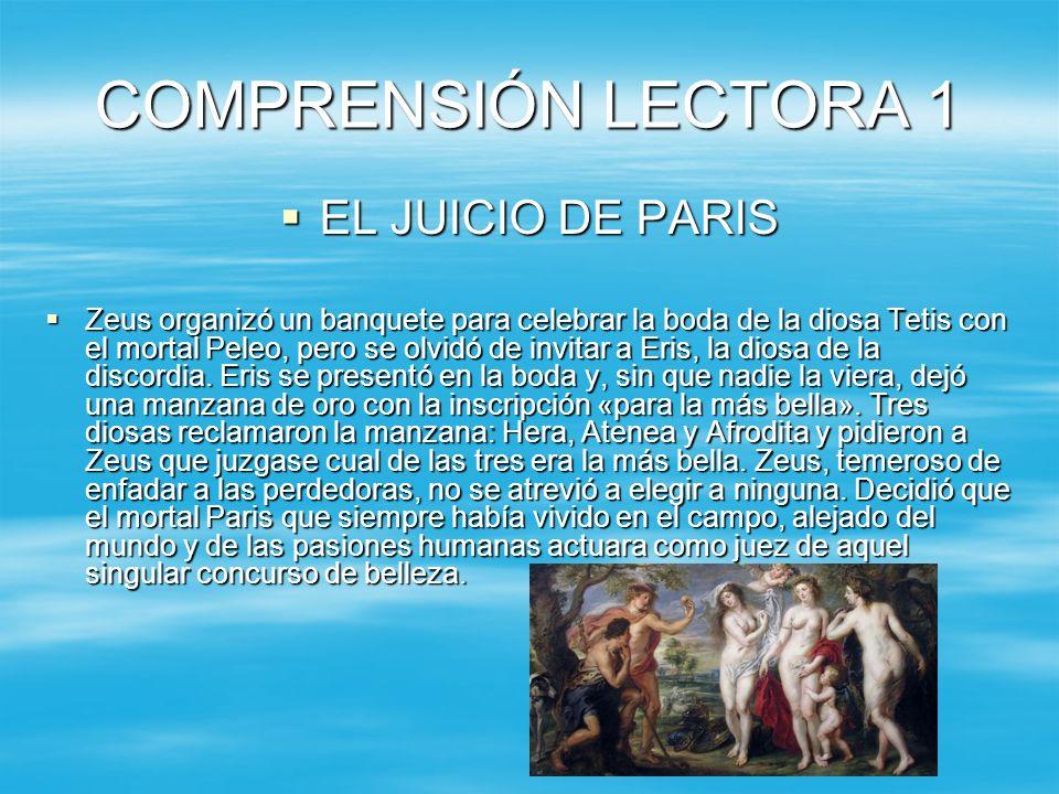 COMPRENSIÓN LECTORA 1 EL JUICIO DE PARIS