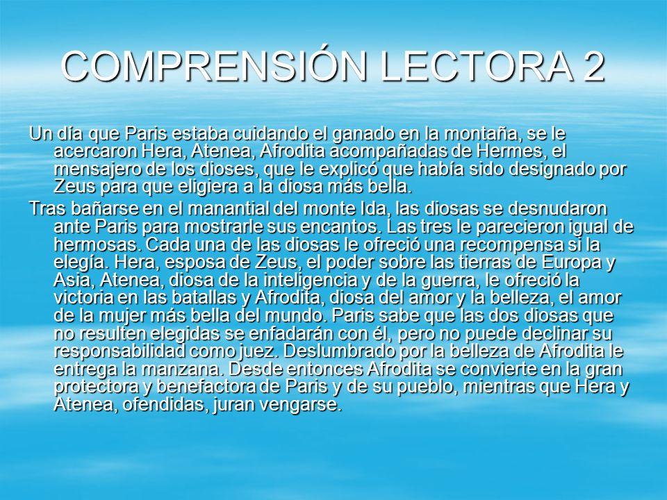 COMPRENSIÓN LECTORA 2