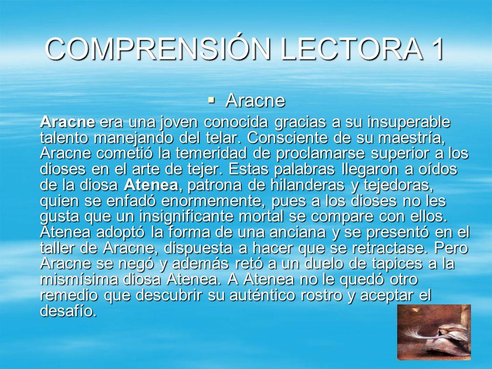 COMPRENSIÓN LECTORA 1 Aracne