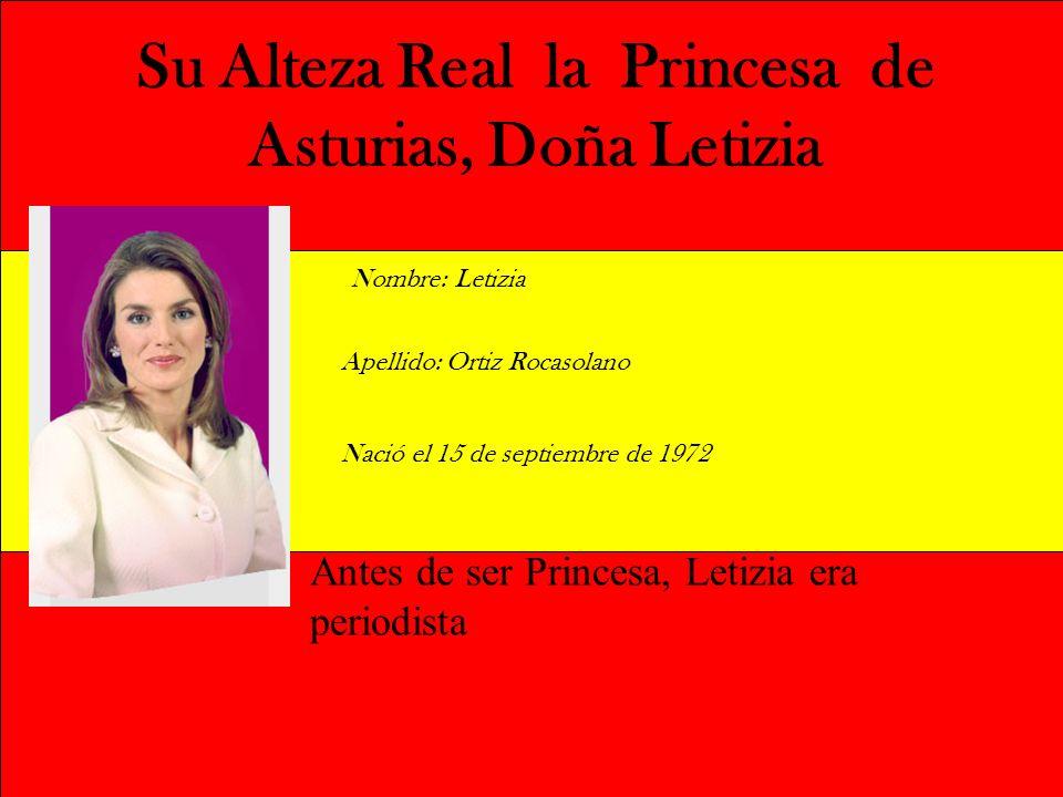 Su Alteza Real la Princesa de Asturias, Doña Letizia