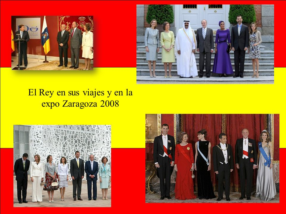 El Rey en sus viajes y en la expo Zaragoza 2008