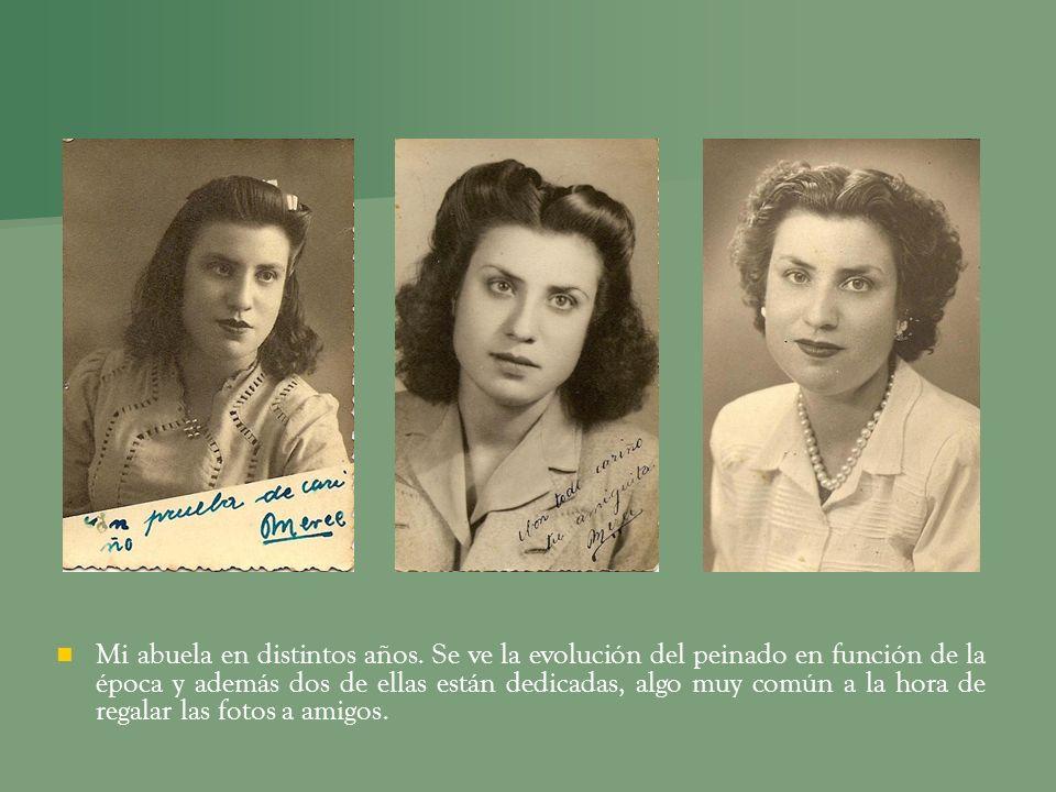 Mi abuela en distintos años