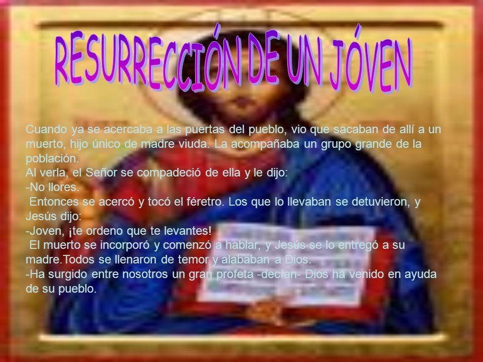 RESURRECCIÓN DE UN JÓVEN