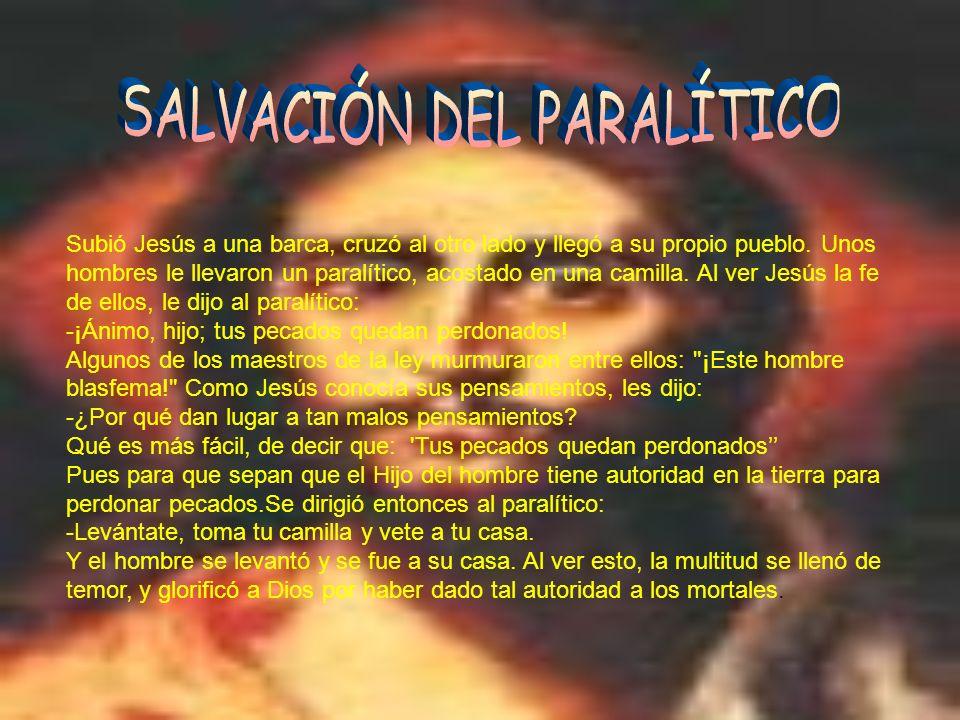SALVACIÓN DEL PARALÍTICO