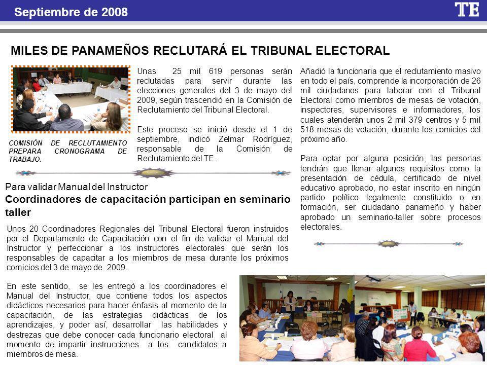 MILES DE PANAMEÑOS RECLUTARÁ EL TRIBUNAL ELECTORAL