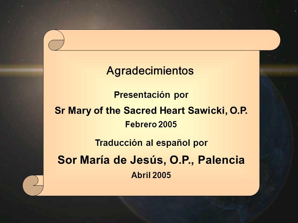 Sor María de Jesús, O.P., Palencia Agradecimientos