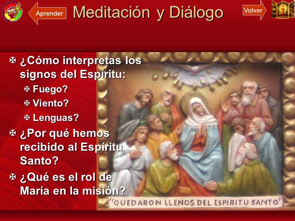 Meditación y Diálogo ¿Cómo interpretas los signos del Espíritu: