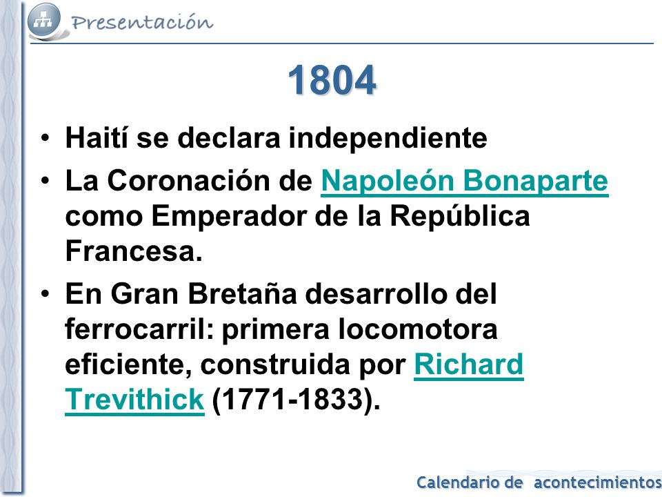 1804 Haití se declara independiente