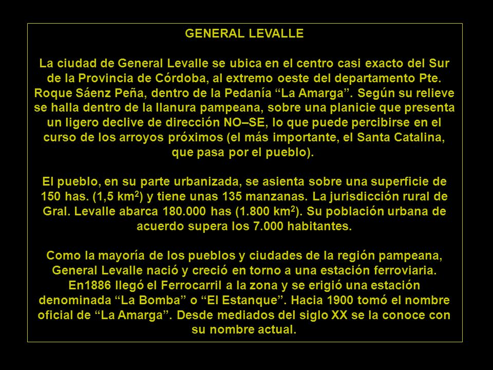 GENERAL LEVALLE