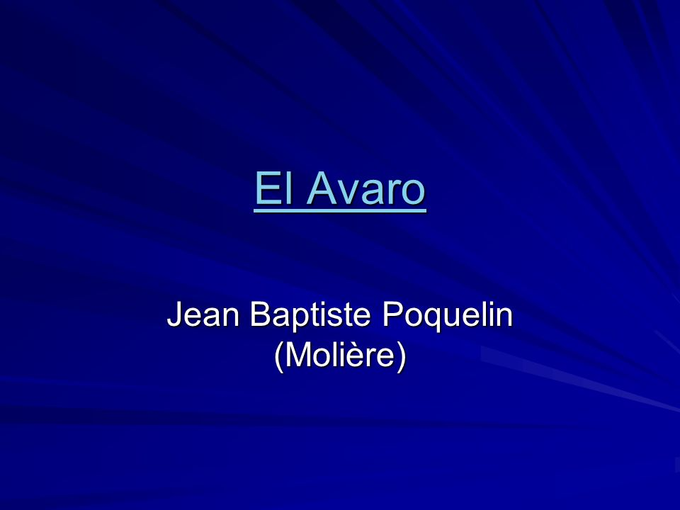 Jean Baptiste Poquelin (Molière)