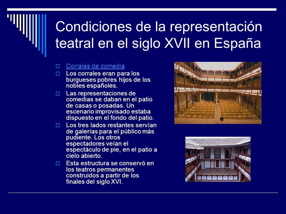 Condiciones de la representación teatral en el siglo XVII en España