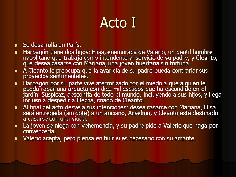 Acto I Se desarrolla en París.