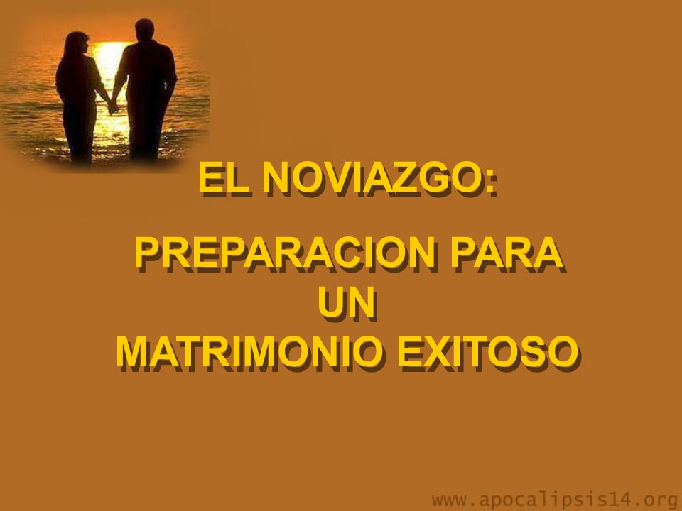 PREPARACION PARA UN MATRIMONIO EXITOSO