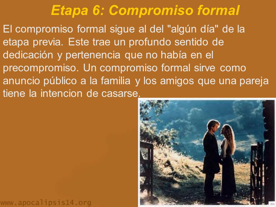 Etapa 6: Compromiso formal
