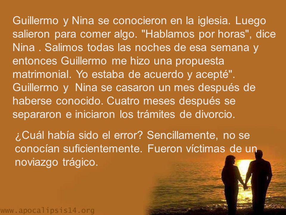 Guillermo y Nina se conocieron en la iglesia