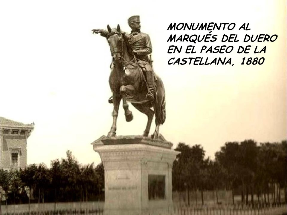 MONUMENTO AL MARQUÉS DEL DUERO EN EL PASEO DE LA CASTELLANA, 1880