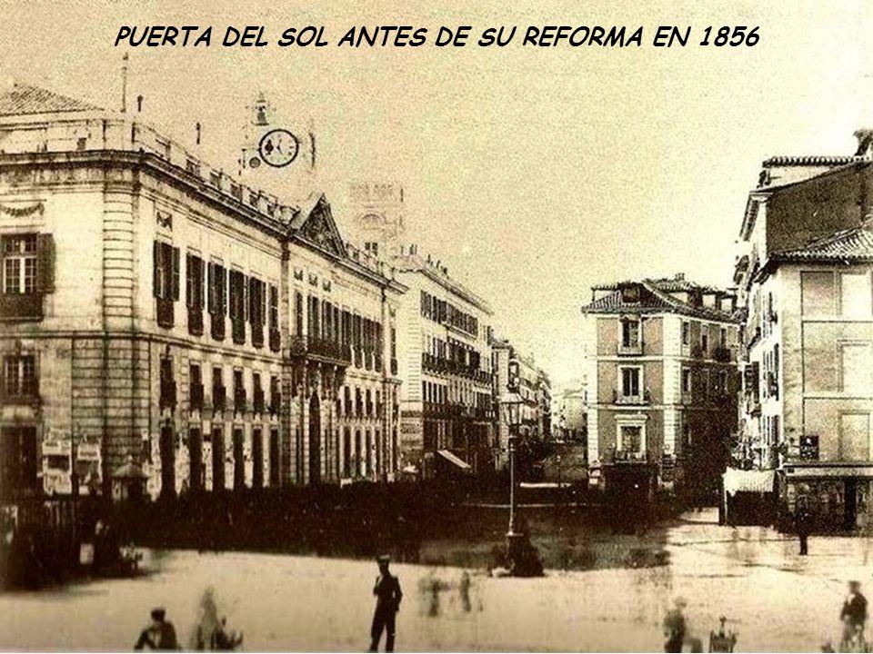 PUERTA DEL SOL ANTES DE SU REFORMA EN 1856