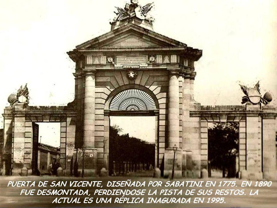 PUERTA DE SAN VICENTE, DISEÑADA POR SABATINI EN 1775