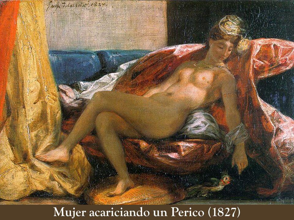 Mujer acariciando un Perico (1827)