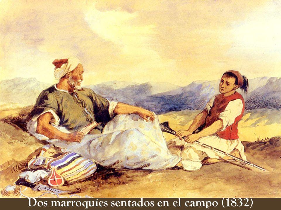 Dos marroquíes sentados en el campo (1832)
