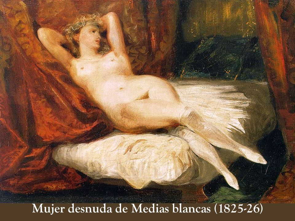 Mujer desnuda de Medias blancas (1825-26)