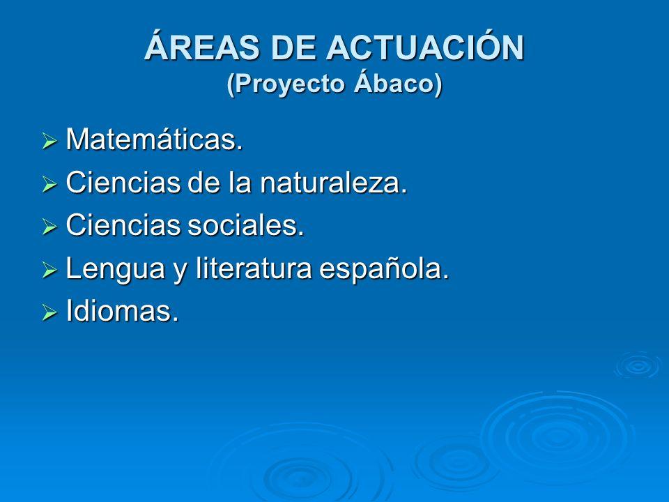 ÁREAS DE ACTUACIÓN (Proyecto Ábaco)