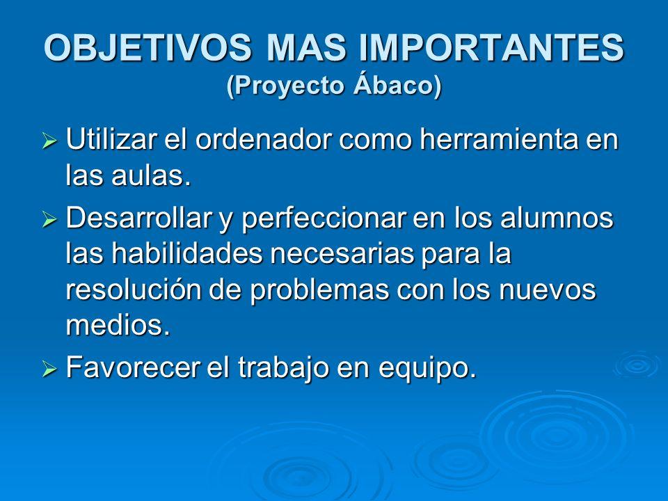OBJETIVOS MAS IMPORTANTES (Proyecto Ábaco)