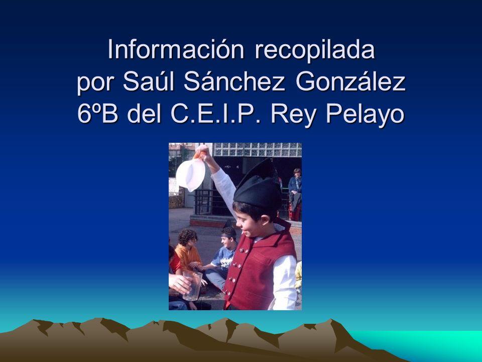 Información recopilada por Saúl Sánchez González 6ºB del C. E. I. P